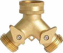 CHSEEO 2 Way Hose Splitter Tap Connector Tap