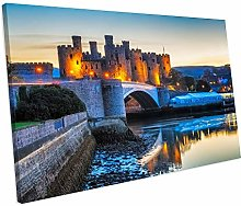 chuanghe3943 Unframe Canvas Printing Conway Castle