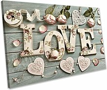 chuanghe3943 Unframe Canvas Printing Love Vintage
