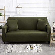 chuanglanja sofa cover Dark Green Solid Simple