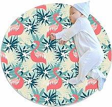chuangxin Beautiful Flamingo Kitchen rug washable