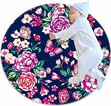 chuangxin Butterflies Botanical Kitchen rug