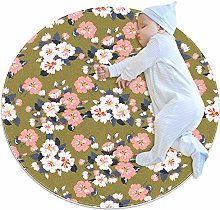 chuangxin Flowers Kitchen rug washable entryway