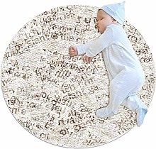 chuangxin Gray Alphabet Pattern Kitchen rug