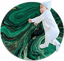 chuangxin Green Abstract Texture Kitchen rug