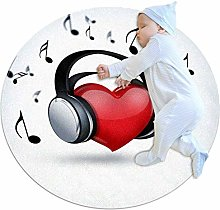 chuangxin Heart Music Kitchen rug washable