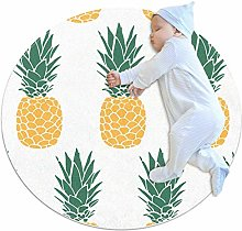 chuangxin Pineapple Kitchen rug washable entryway