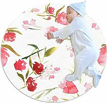 chuangxin Spring Flowers Kitchen rug washable