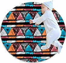 chuangxin Tribal Triangle Kitchen rug washable