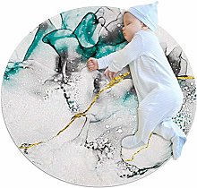 chuangxin White Abstract Kitchen rug washable