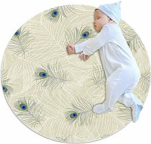chuangxin White Feathers Kitchen rug washable