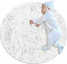 chuangxin White Mottled Kitchen rug washable