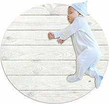 chuangxin White Wood Texture Wooden Kitchen rug