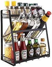CHUHJ 3-Tier Spice Rack Free Standing Spice Jar