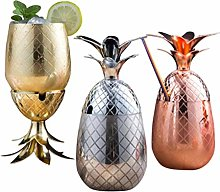 CHUN LING 3-Piece Stainless Steel Cocktail Glass