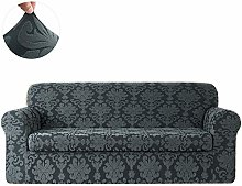 CHUN YI Floral Jacquard Sofa Cover Stretch 2