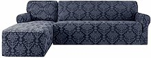 CHUN YI Floral L-Shaped Sofa Cover Couch Covers