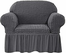CHUN YI Sofa Cover for 1 Seater with skirt,