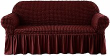 CHUN YI Sofa Cover for 3 Seater with skirt,
