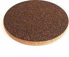 Chunky Round Dark Cork Hot Pot Stand Trivet Small