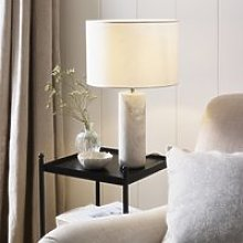 Churwell Table Lamp, White Natural, One Size