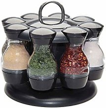 Chutoral 16 Jar Herb PotsSpice and Herb Rack and