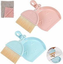 Chutoral 3 Pcs Mini Dustpan and Brush Set,