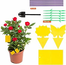 Chutoral 45 Pcs Yellow Sticky Fly Traps Dual-Sided