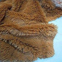 CHZIMADE Faux Fur Velvet Plush Fabric Soft