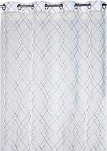 Ciel de France Curtain Panel, Polyester, Grey, 240