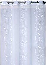 Ciel de France Curtain Panel, Polyester, White,
