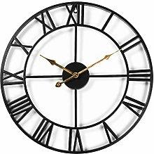 CIFFOST Large metal wall clock, European retro