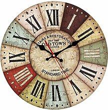 CIFFOST Retro wall clock, 34cm wall clock Kitchen
