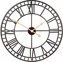 CIFFOST Round wall clock retro roman numeral