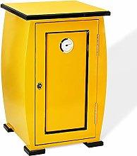 Cigar Cooler Humidor, Large Yellow Piano Finish