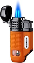 CIGARLOONG Cigar Lighter 4 Jet Torch Blue Flames
