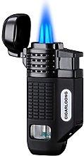 CIGARLOONG Cigar Lighter 4 Jet Torch Blue Flames
