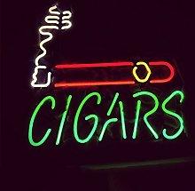 CIGARS Real Glass Neon Light Sign Home Beer Bar