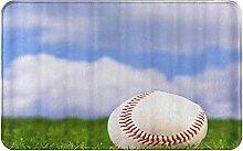 CIKYOWAY Bathroom Mat Baseball For Sports,Door Mat