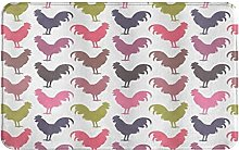 CIKYOWAY Bathroom Mat Cock Pattern,Door Mat Bath