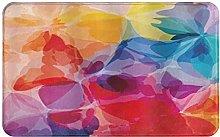 CIKYOWAY Bathroom Mat Creative Watercolor Style