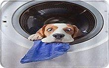 CIKYOWAY Bathroom Mat Dog Dizzy Funny Style