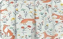 CIKYOWAY Bathroom Mat Fox In Socks Flower