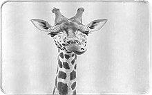 CIKYOWAY Bathroom Mat Funny Animal Giraffe,Door