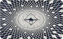CIKYOWAY Bathroom Mat Geometric Grid Plaid Design