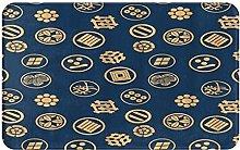 CIKYOWAY Bathroom Mat Japanese Gold Crest,Door Mat