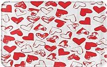 CIKYOWAY Bathroom Mat Love Lover Pink,Door Mat