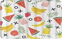 CIKYOWAY Bathroom Mat Pattern With Pineapple