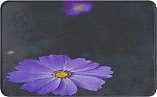 CIKYOWAY Bathroom Mat Purple Plant Pretty Cosmea
