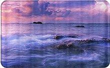 CIKYOWAY Bathroom Mat Sea Wave Surfing,Door Mat